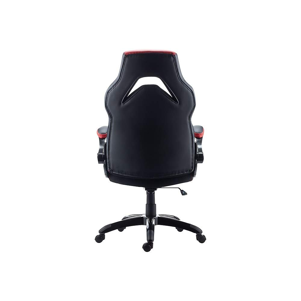 Staples 2710774 Gaming Chair Black And Red Buy Online In Armenia At Desertcart Black and blue faux leather gaming chair with color contrast stitching and blue color blocks / overall dimensions good & gracious blue gray recliner chair modern reclining sofa for $305.05. desertcart