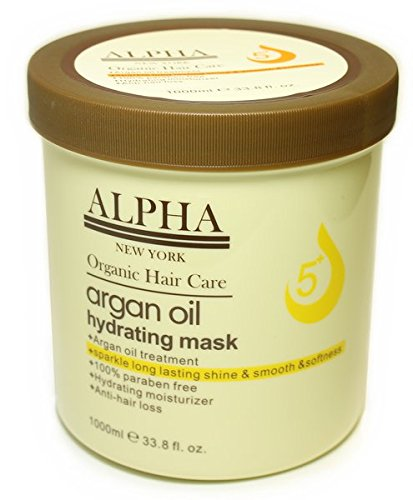 ARGAN OIL HYDRATING MASK BY ALPHA NEW YORK HAIR REPAIR 1000 ml. / 33.8 fl. oz. by ALPHA NEW YORK