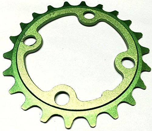 Hoja de 22 dientes Aerozine cadenas de diámetro 64 mm 9/10 con colour verde 731-22z_Grün