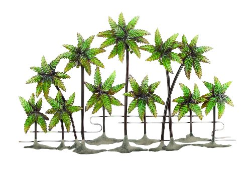 More Tropical Themed Metallic Palm Tree Wall Arts Make Great Tropical Palm Tree Themed Home Decor Gifts
