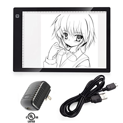 Embossing Light Box (A4 Tracing Light Box, CCTRO LED Tracing Light Pad Tracer USB Power Cable Dimmable Brightness Tattoo Pad for Animation, Designing, Sketching, Drawing, Artists, X-ray viewer)