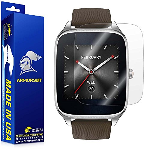 Price comparison product image ArmorSuit MilitaryShield 1.63-Inch Ultra HD Screen Protectorfor ASUS ZenWatch 2 - Clear - 2 Pack