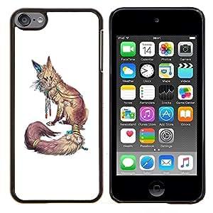 Eason Shop / Premium SLIM PC / Aliminium Casa Carcasa Funda Case Bandera Cover - Blanco Naturaleza Animal Rojo minimalista - For Apple iPod Touch 6 6th Touch6