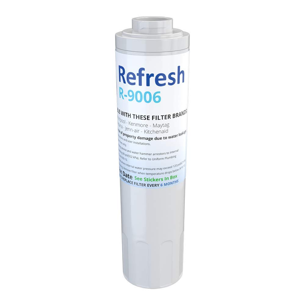 Refresh Replacement for Maytag PUR FILTER 4, Whirlpool EDR4RXD1, Everydrop Filter 4, UKF8001AXX-750, 4396395, PuriClean II, and Kenmore Filters 469006, 46 9006, 9006 Refrigerator Water Filter (1 Pack)