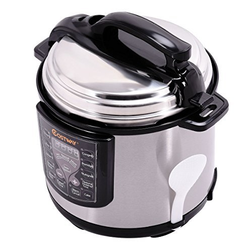 6-quart-electric-pressure-cooker-1000-watt-120v-60hz-stainless-steel-kitchen-automatically-controlle