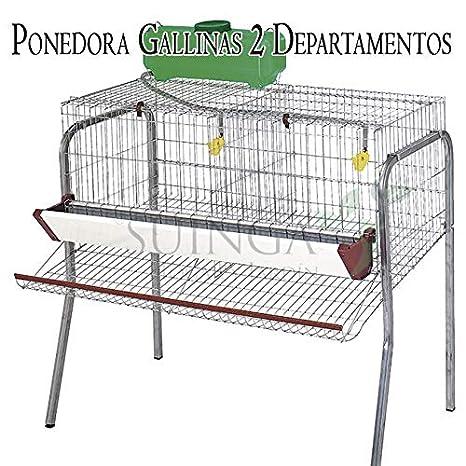 Suinga Bateria GALLINAS PONEDORAS 2 departamentos. Capacidad 10 ...