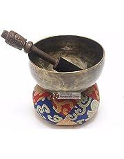 "Antique Color Tibetan High quality Meditation Singing Bowl Sets by NHZ (5.5"")"