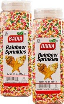 Badia Rainbow Sprinkles 1.5 lbs Pack of 2