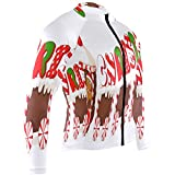 Merry Christmas Carriage Mens Cycling Jersey Shirts Long Sleeve Road Biking Wear Outfit