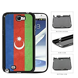 Azerbaijan Flag Blue Red and Green with Crescent Moon Grunge Hard Snap on Phone Case Cover Samsung Galaxy Note 2 N7100