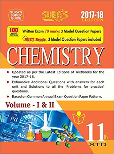 11th Standard New Pattern Chemistry Volume I and II Exam Guide 2017