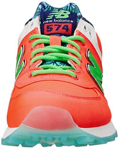 New Balance WL574 Damen Rosa Textile Sportliche Sneakers Schuhe Neu EU 40