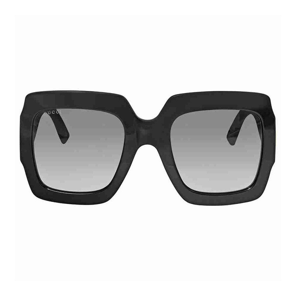 Gucci GG0102S 001 Black / Grey GG0102S Square Sunglasses Lens Category 3 Size 5