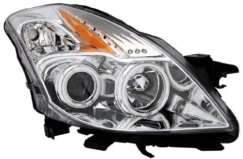 08-10 Nissan Altima 2DR Coupe CCFL Angel Eye Halo Projector Headlights Chrome