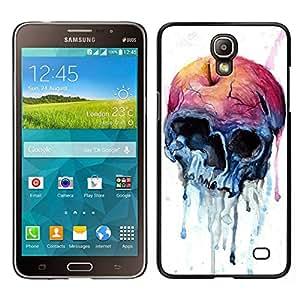 // PHONE CASE GIFT // Duro Estuche protector PC Cáscara Plástico Carcasa Funda Hard Protective Case for Samsung Galaxy Mega 2 / Apple Skull Watercolor Blue Health /
