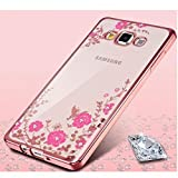 LOXXO New Edition Case For Samsung Galaxy A5 Brings This Cover For Fashion Lover Girls Buy Samsung A5 Shockproof Silicone Soft TPU Transparent Auora Flower Case with Sparkle for Samsung A5 Back Cover GOLD