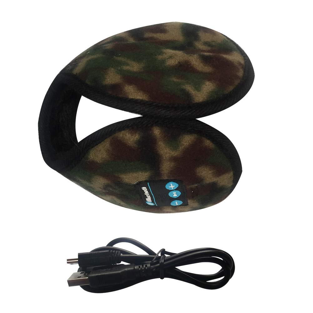 Correr Camouflage para Caminar esqu/í Orejeras con Bluetooth para Hombre Actividades al Aire Libre Mujer BGY Invierno Tama/ño Libre