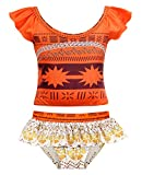 AmzBarley Little Girls Moana 2-Pieces Swimsuit Toddler Swimwear Swimming Suit Age 2-3 Years Size 3T
