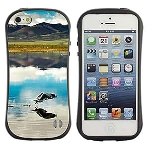 Pulsar iFace Series Tpu silicona Carcasa Funda Case para Apple iPhone 5 / iPhone 5S , Nature Beautiful Forrest Green 53