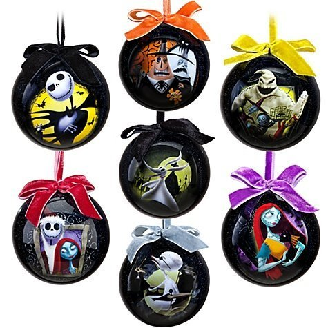51t9fjlmtwlg tim burtons the nightmare before christmas ornament set 7 pc set solutioingenieria Image collections