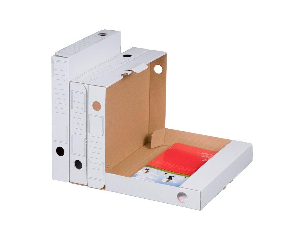 Smartbox Pro - Juego de cajas archivadoras (30 unidades), color blanco: Amazon.es: Oficina y papelería
