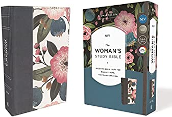 NIV, The Woman's Study Bible, Cloth over Board, Blue Floral, Full-Color Receiving God's Truth for Balance, Hope, and Transformation