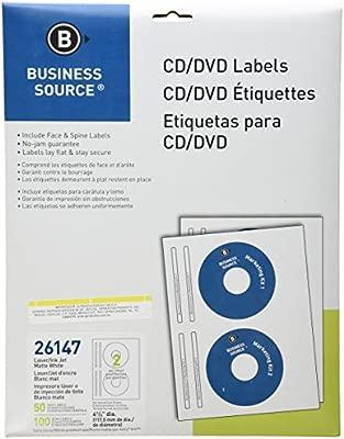 Business Source BSN26147 Blanco Etiqueta para impresora ...