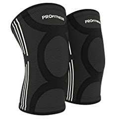 PROFITNESS PREMIUM FABRIC KNEE SLEEVES MADE TO PREVENT INJURIES AND PROVIDE PAIN MANAGEMENT ProFitness Offers Stellar Quality Designed with the athlete in mind. Ergonomic design provides more comfort for knee support Professionally engineered...