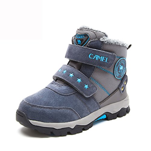 CAMEL Kids Snow Boots Waterproof Booties Color Grey Size 33 M EU(Little Kid/Big Kid) by Camel