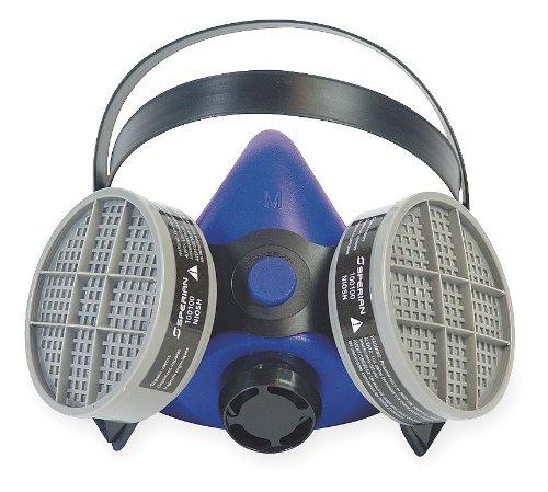 Honeywell B250000 Survivair Small Blue Silicone SURVIVAIR 2000 Half Mask S-Series Facepiece, Plastic, 1