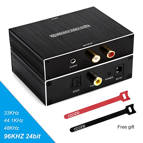 Dolby Digital to Analog Audio Converter,Coaxial+SPDIF/Toslin