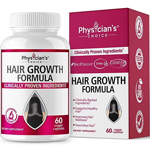 Hair Growth Vitamins; [Clinically Proven Ingredients] Award Winning Keratin, Biotin, More - Proven Hair Vitamins for Faster Healthier Hair Growth - Hair Loss & Thinning Supplement for Women & Men ()