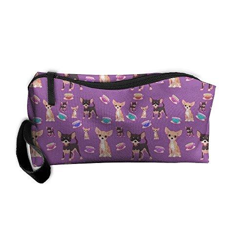 (FRTSFLEE Cute Teacup Chihuahuas Beauty Women In Hand Makeup Bag Clutch Storage Cosmetic Organizer)