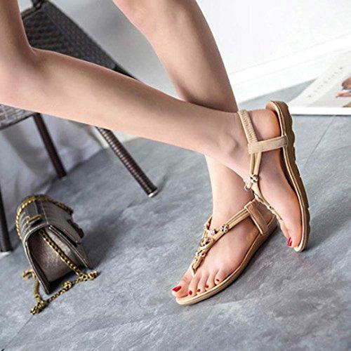 Calzado de mujer,Amlaiworld Bohemia dulces moldeados de las sandalias de las sandalias del dedo del pie del clip
