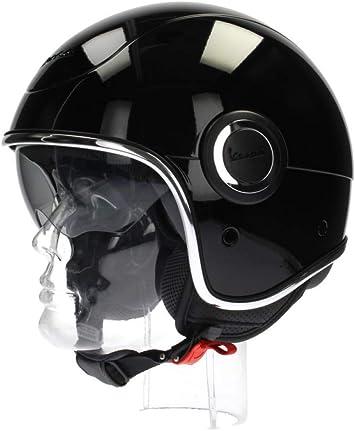Amazon.es: Vespa VJ1 - Casco para moto, color negro