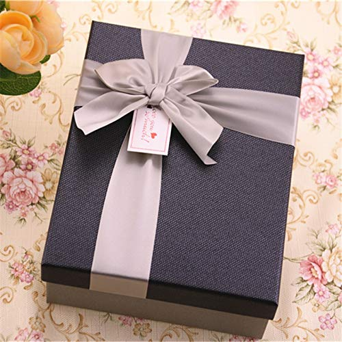 Lannmart Fashion 1pc/lot 16206.5cm Large Cardboard Paper Gift Packaging Boxes with Bow Party Gift Boxes&Bags