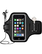 iPod Touch 7th/6th/5th Generation Armband, JEMACHE Gym Running Exercise Workout Sport Arm Band for iPod Touch 7/6/5/4 Generation with Card Holder (Black)