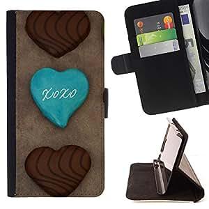 BullDog Case - FOR/LG G3 / - / cookie chocolatae sugar sweets cafe /- Monedero de cuero de la PU Llevar cubierta de la caja con el ID Credit Card Slots Flip funda de cuer