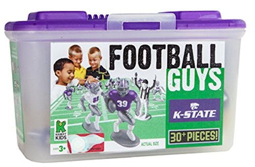 Kaskey Kids Kansas State Football Guys – Inspires Imagination with Open-Ended Play – Includes 2 Full Teams and More – For Ages 3 and Up