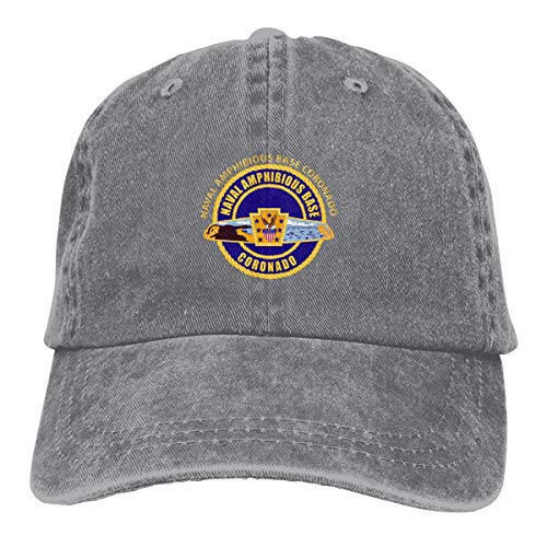 Naval Amphibious Base Coronado Denim Dad Hats Adjustable Baseball Cap
