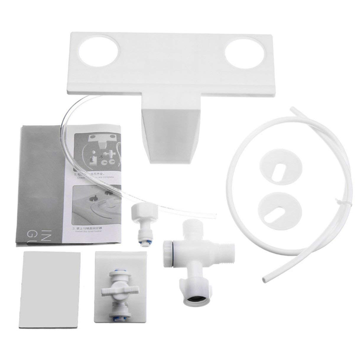 Toilet Bidet Fresh Water Spray Nozzle Toilet Seat Attachment Hand Operation Non-Electric Bathroom Shattaf Kit