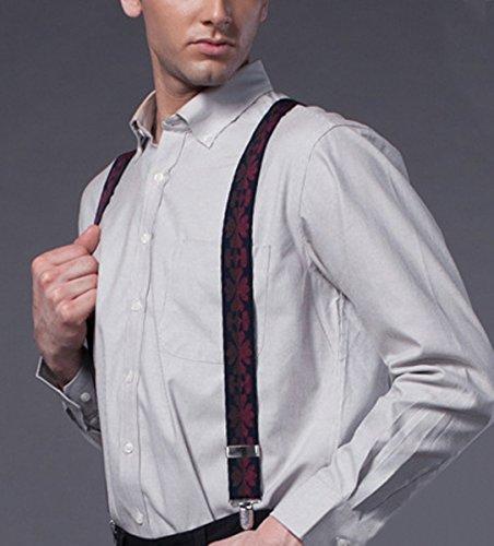 6 Y 3 Cuir Entièrement Ahatech Avec Réglables Homme Elastique Couleur Bretelles Clip on Clips HUOUw