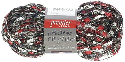 Premier Yarns City Life Ladder Yarn, Garnet - City Life Ladder Yarn
