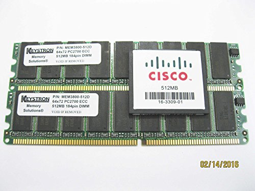 MEM3800-256U1024D 2x512MB 1GB dram + MEM3800-512CF flash Max memory Kit for Cisco 3825 3845 Routers