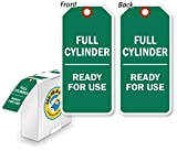 Full Cylinder Ready For Use Tag with Fiber Patch, Polyolefin Tag, 100 Tags / Box, 3'' x 6.25''