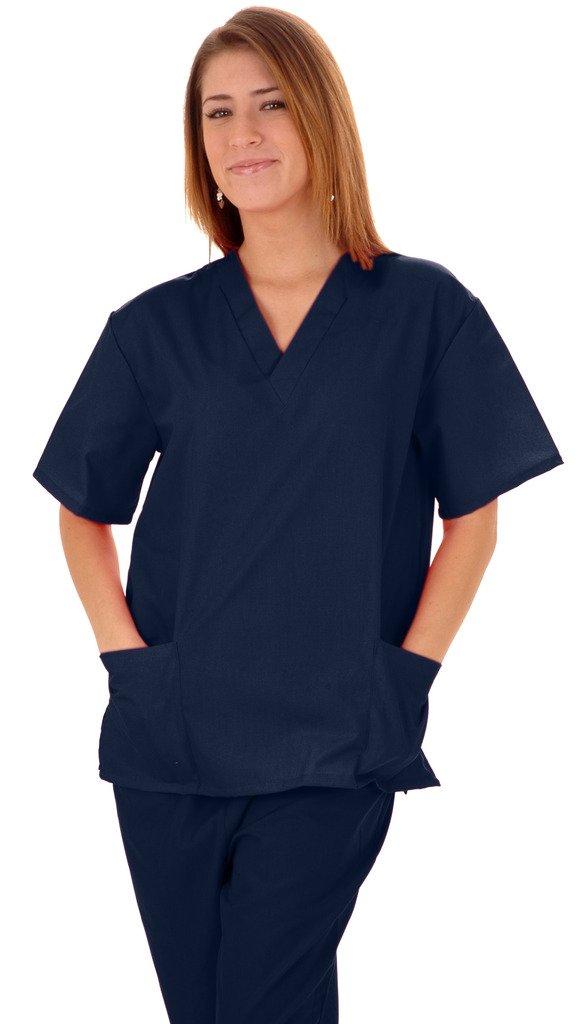 M&M SCRUBS Women Scrub Set Medical Scrub Top and Pants XS Navy Blue