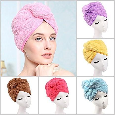7188d54bb60 Image Unavailable. Image not available for. Colour: Kids Mandi Cotton Shower  Cap Super Absorbent Hair Towel Turban ...