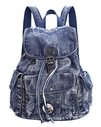 (SAIERLONG MsBP Women's And Girl's Backpack School Bag Travel Bag blue jean)