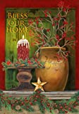 Christmas Mantle - Bless Our Home - Garden Size 12 Inch X 18 Inch Decorative Flag