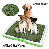 Mystyleshop 3 Tire Indoor Puppy Dog Pet Potty Training Pee Pad Mat Tray Grass Toilet W/tray